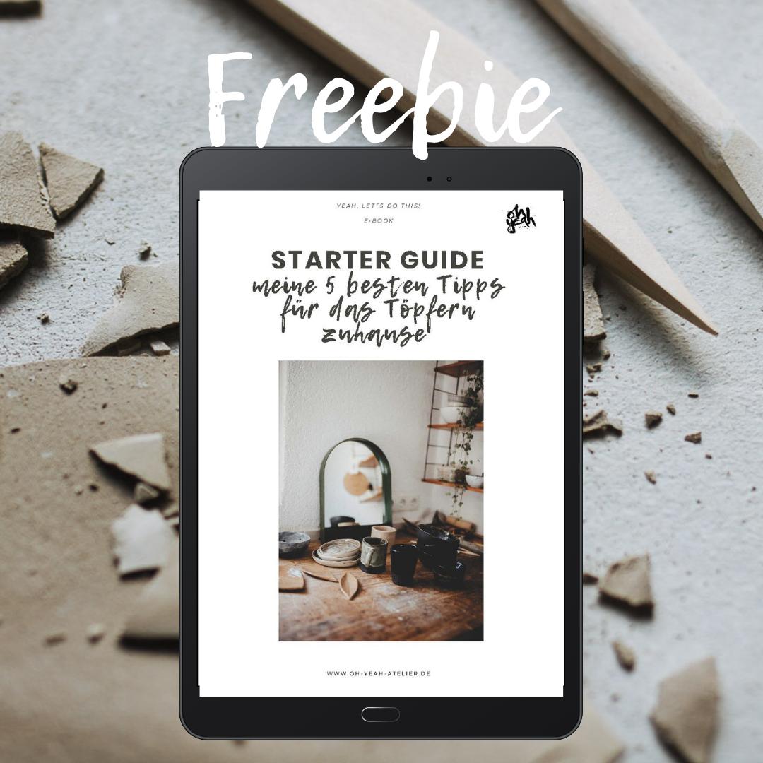 Freebie Starter Guide Töpfern Zuhause